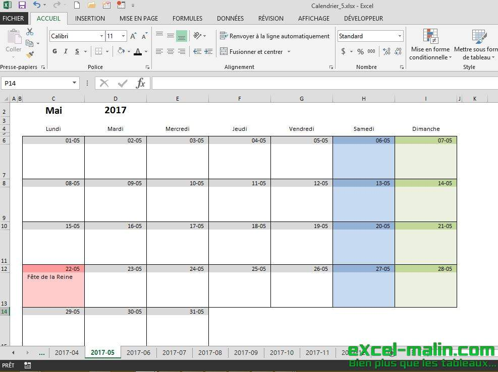 exemple planning mensuel excel